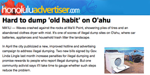 Hard to dump 'old habit' on Oahu