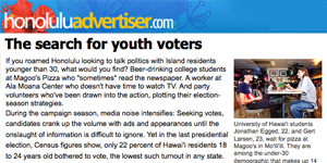 The search for youth voters